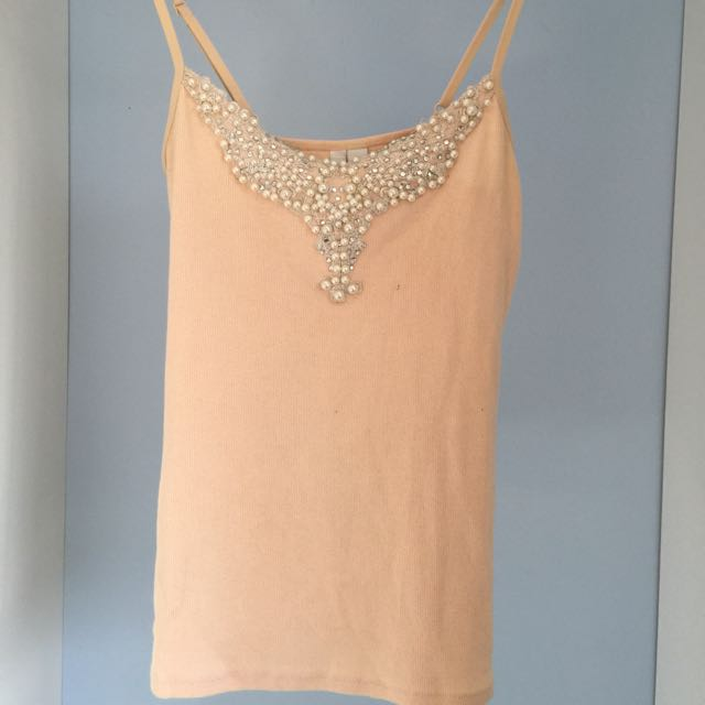 Forever New Apricot Detailed Top Size: 6