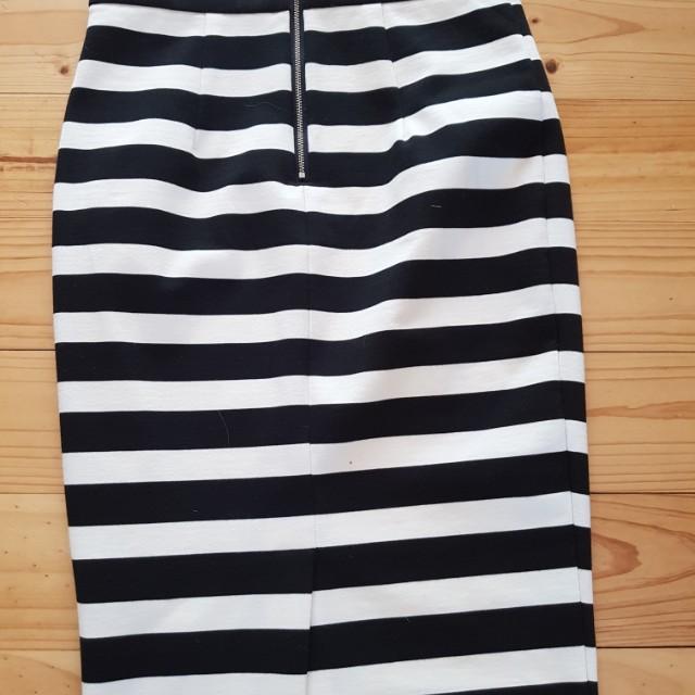 Forever new stripe midi skirt size 10