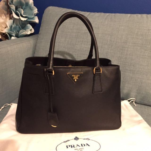 Genuine Prada Saffiano Lux Handbag