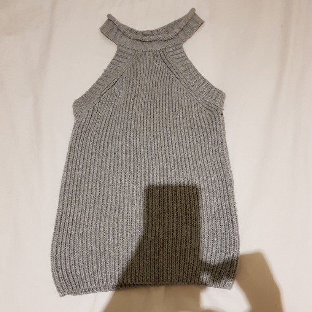 grey knit top size 10