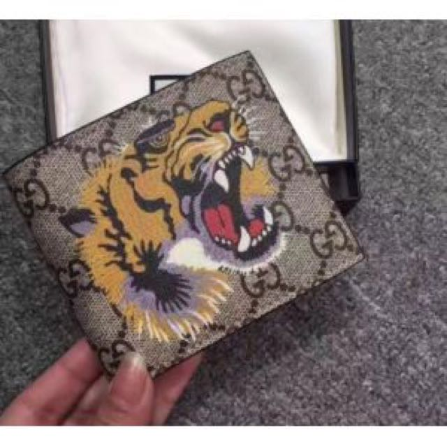 d0dd91398175 Gucci Tiger Supreme Wallet, Men's Fashion, Bags & Wallets on Carousell