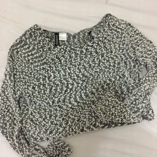 H&M Cropped Knitted Top