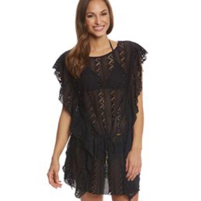 Jessica Simpson Swimwear Flower Power Crochet Cover Up