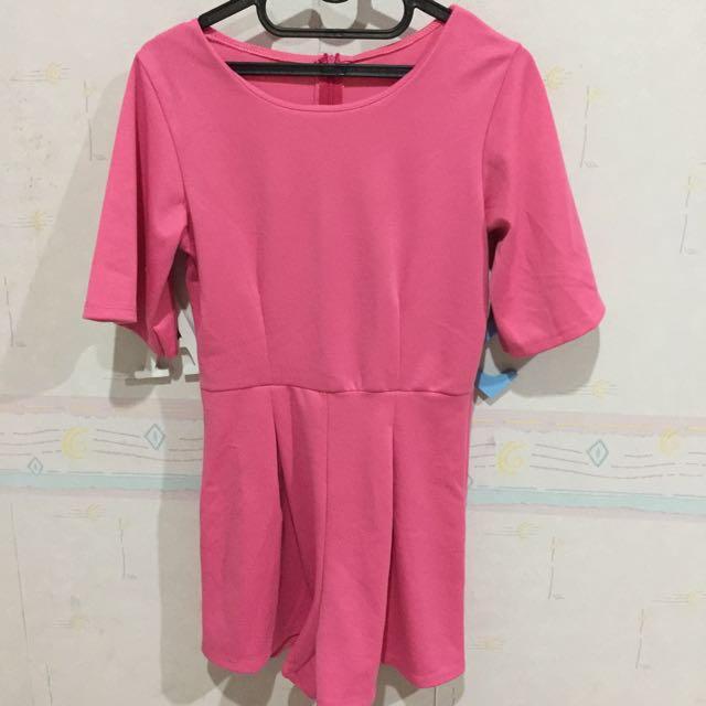 Jumpsuit Playsuit Pink Lucu Murah