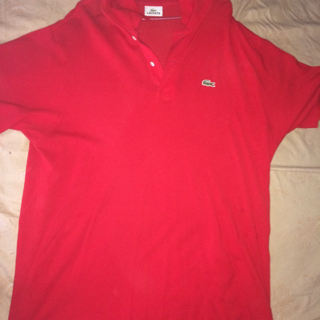 Lacoste polo red size 6 original