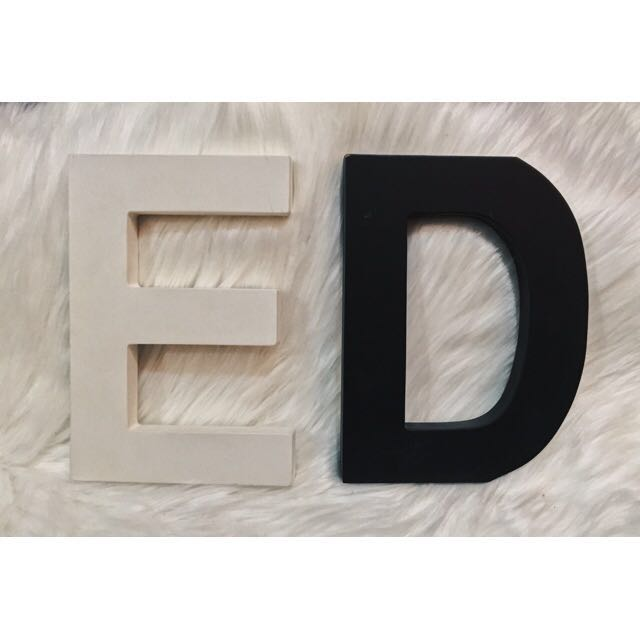 Large Decorative Wooden Letters