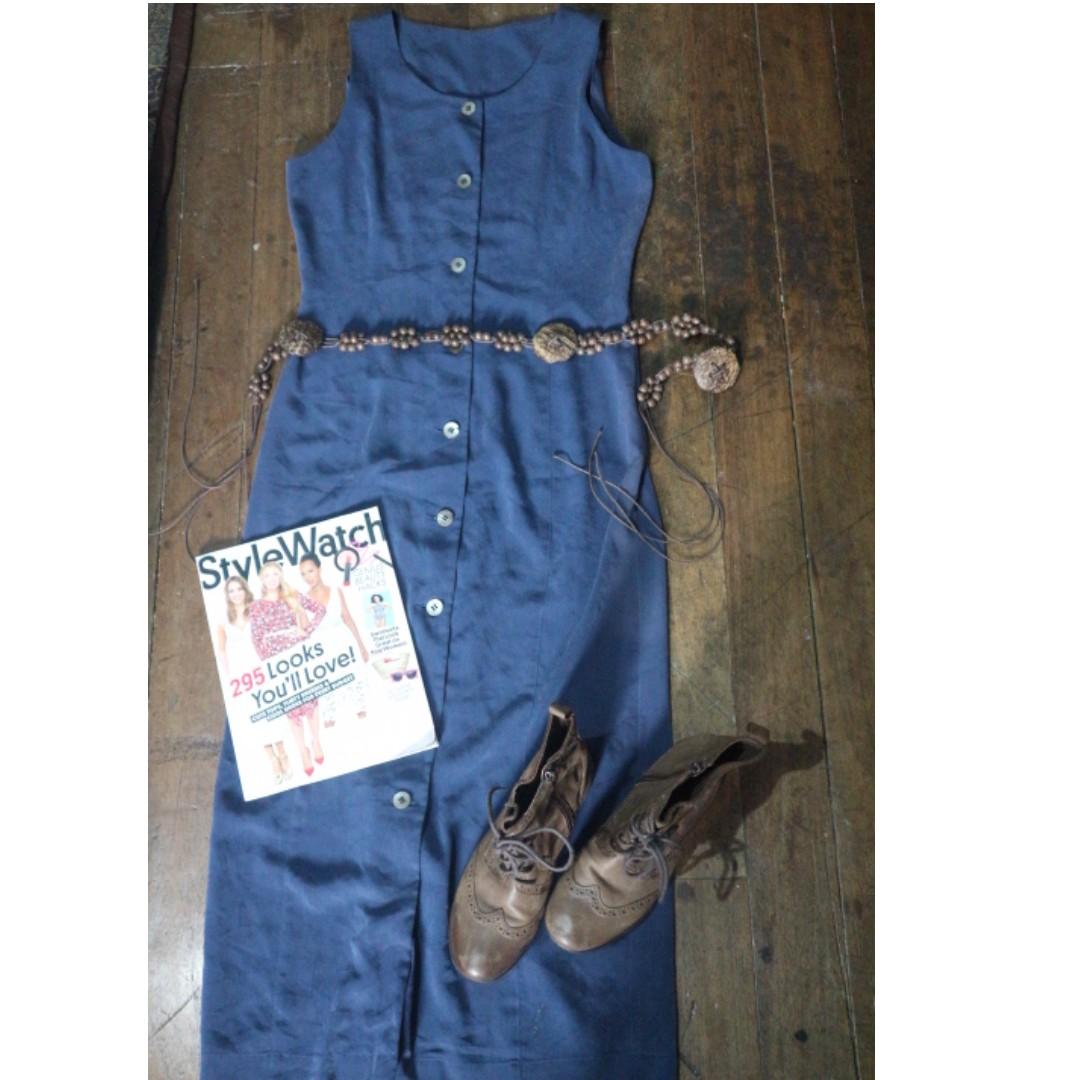 Long Blue Dress (belt included)