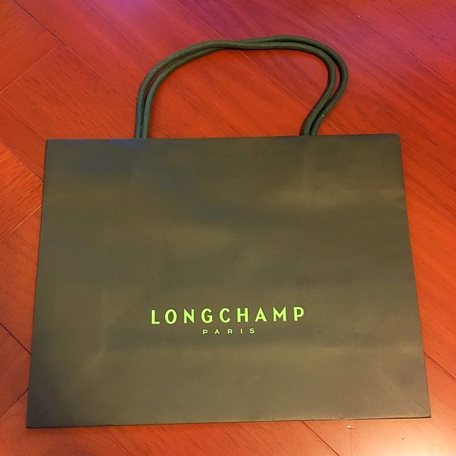 Longchamp 提袋 紙袋 35*27cm