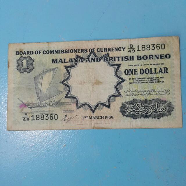 Malaya 1959 $1 B/49