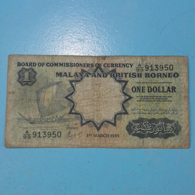 Malaya $1 1959 A/99