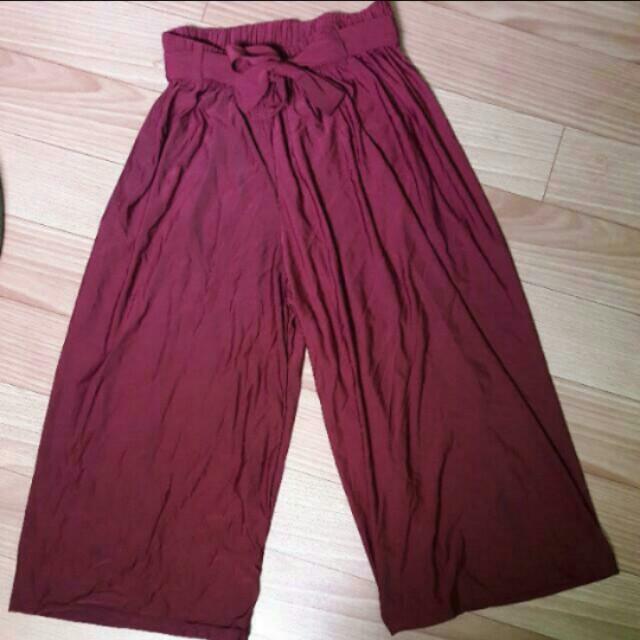 Maroon Cullotes/Square Pants