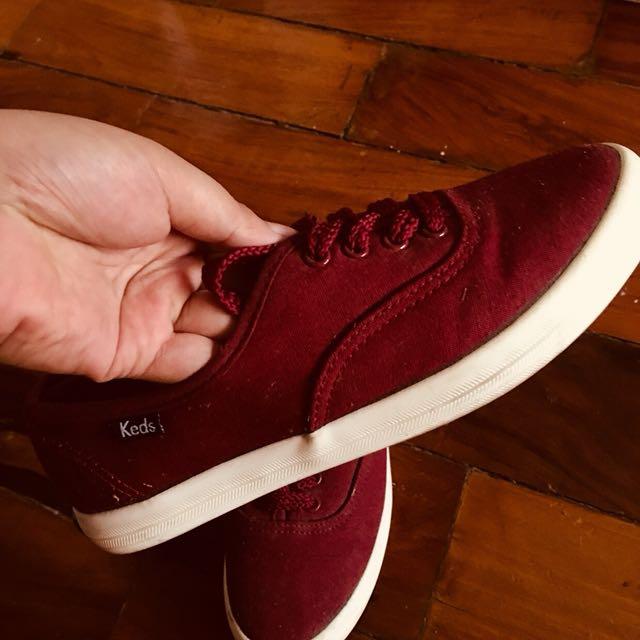 Maroon Keds Sneakers, Women's Fashion
