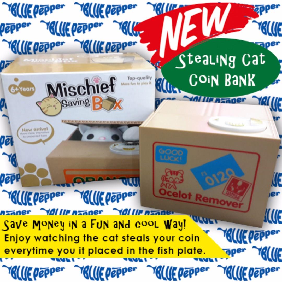 Mischief Saving Box / Stealing Cat Coin Bank (piggy bank) 🐱💰🐖