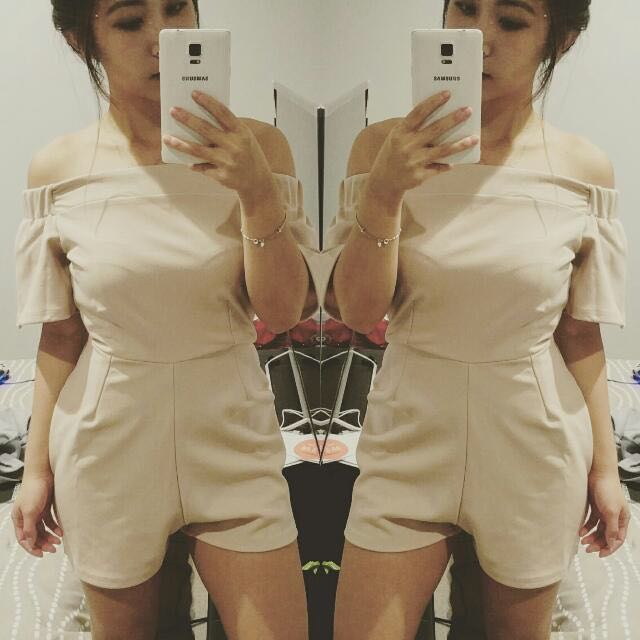 Missguided Bardot Frill Playsuit | Size 6