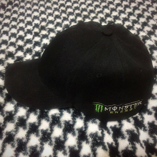 Monster 鬼爪 經典黑色棒球帽 白色帽沿 #雙十一大出清