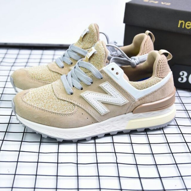 00d70e43747 New Balance 574 Sport Suede Pack  Beige with White