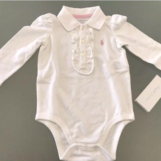 4dea3b548 NEW RALPH LAUREN Polo Bodysuit baby girl 9m, Babies & Kids, Girl's Apparel  on Carousell