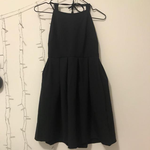 Open back zara dress