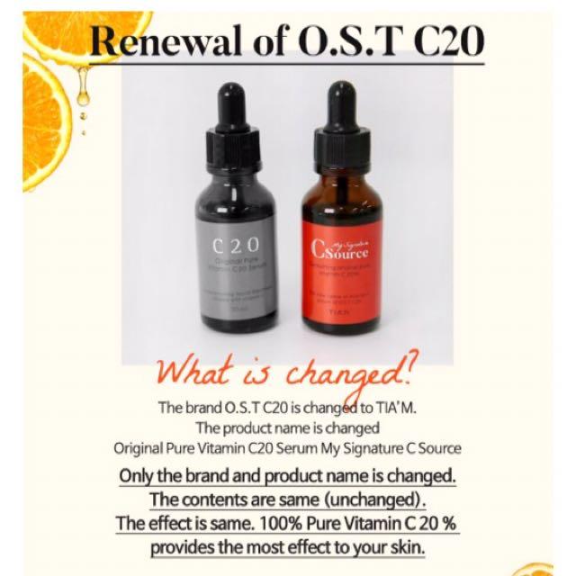Original Pure Vitamin C20 Serum My Signature C Source