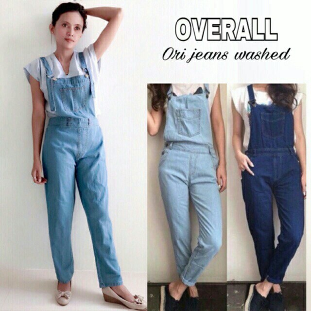 Overall Jeans Real Pict