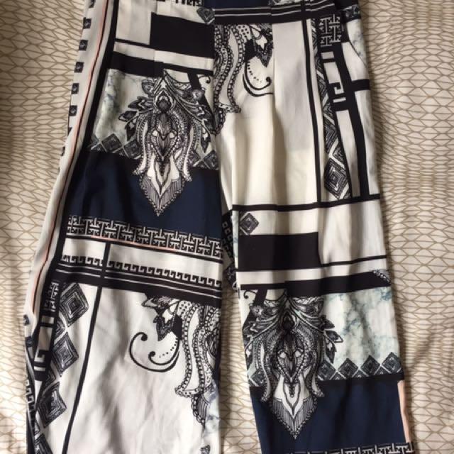 Pants crop pattern