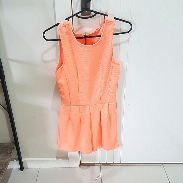 Peach Jump Suit From Supre Size XS
