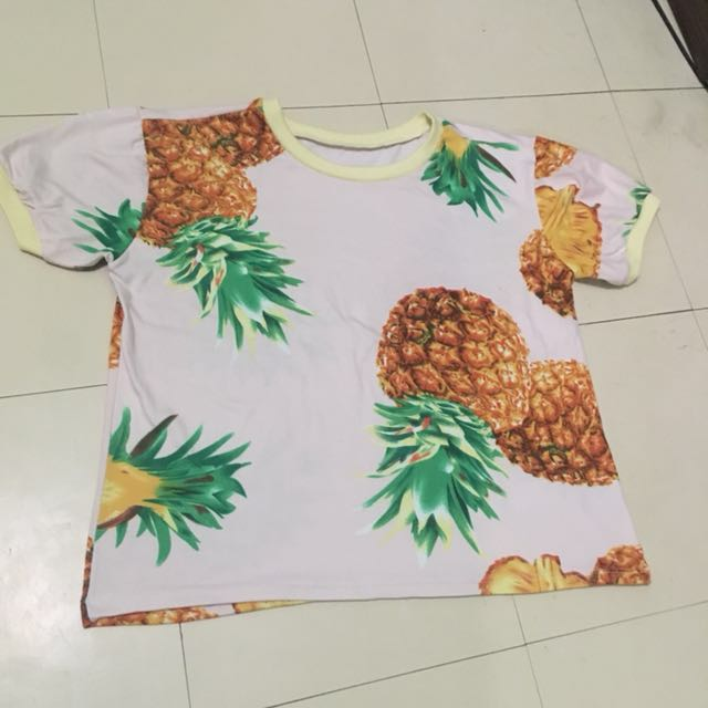 Pineapple Print Blouse