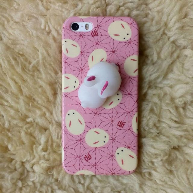 Pink Rabbit Squishy iPhone 5/5S Soft Case