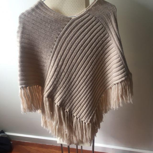 poncho knit jumper
