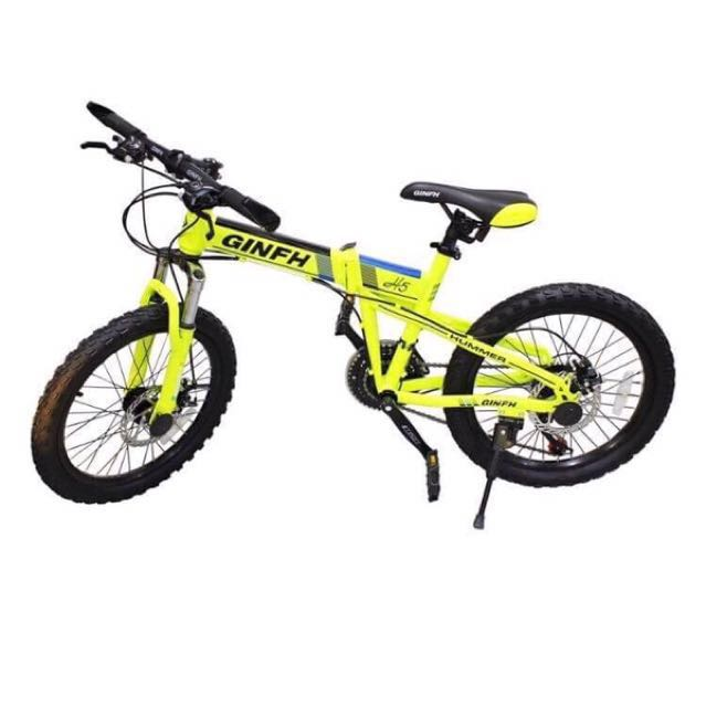 "Pre-loved GinFH H2 HUMMER 20"" Hidden Folding Bike 7-Speed Derailleur System"