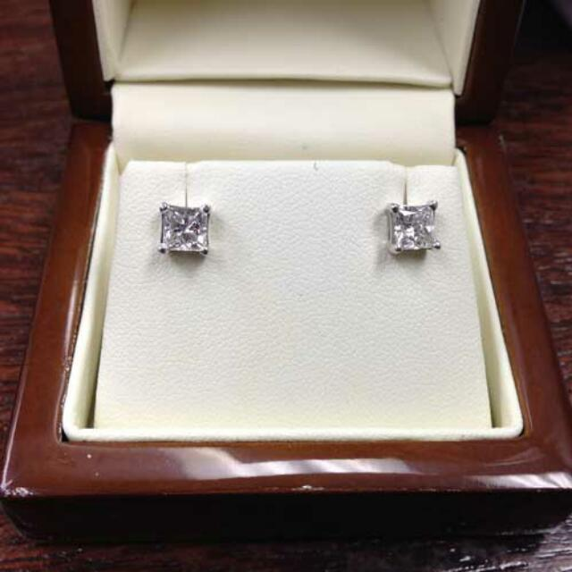 Princess Cut Stud