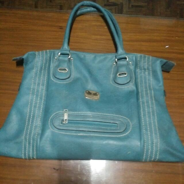 secosana bluegreen big shouder bag