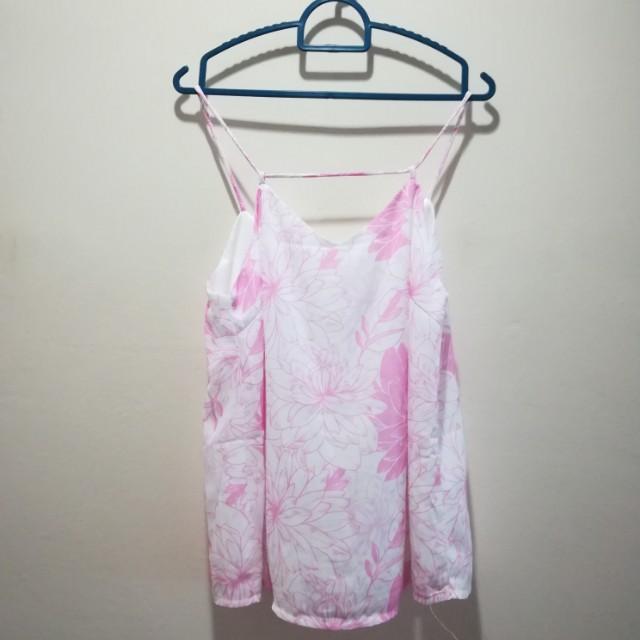 Sg fayth pink floral cami