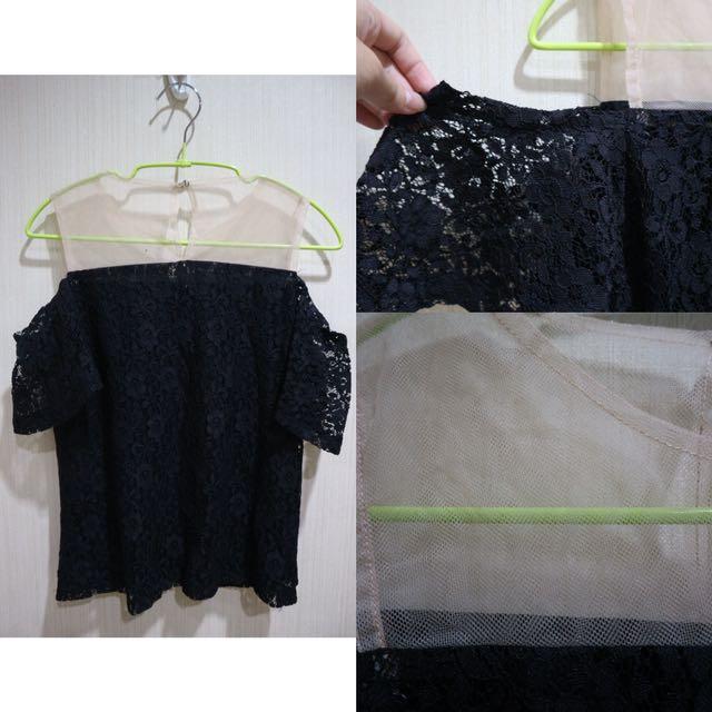 Sheer Lace Black Top