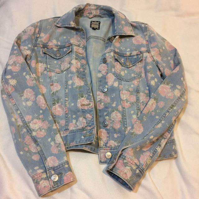韓國的SPAO女生的牛仔夾克