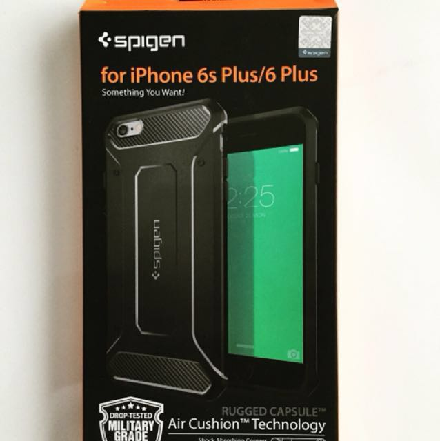 low priced bd92e 2744b Spigen Rugged Capsule for iphone 6/6s plus (authentic)