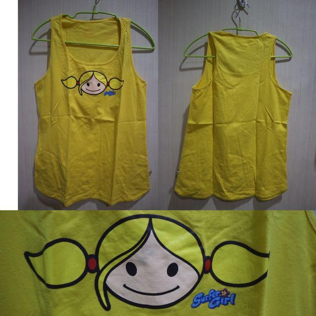 Surfer Girl Yellow Tank Top