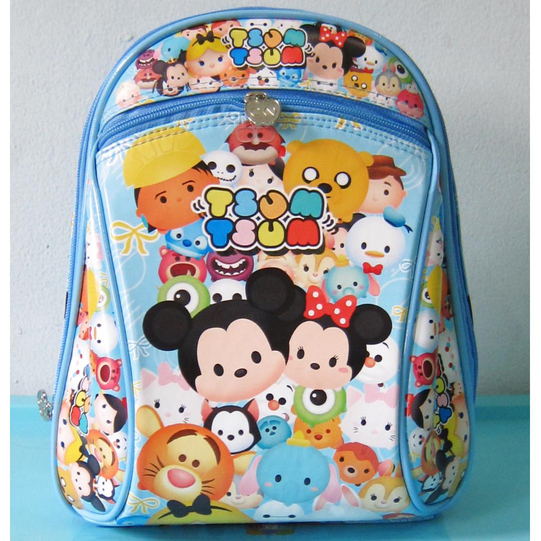 Tas Sekolah Anak Ransel Backpack PG / PAUD TSUM TSUM BIRU