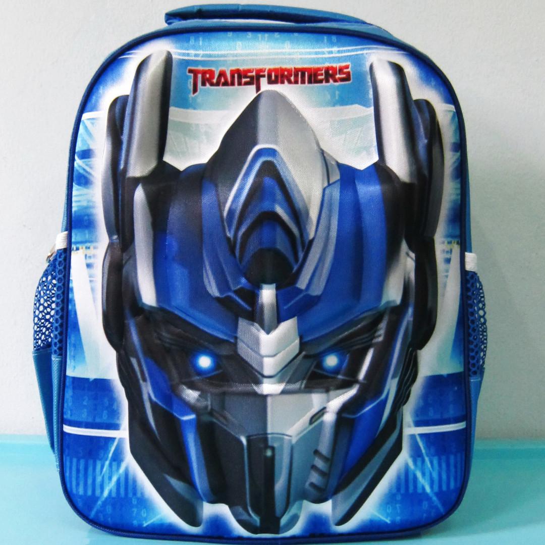 Tas Sekolah Anak Ransel Backpack SD Timbul OPTIMUS PRIME BIRU