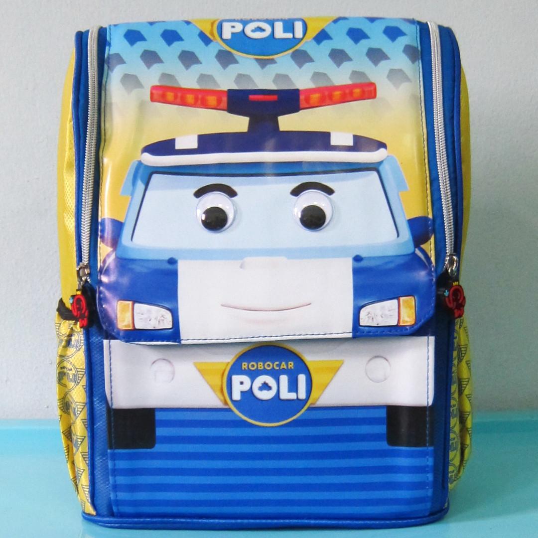 Tas Sekolah Anak Ransel Backpack TK Jepang ROBOCAR POLI
