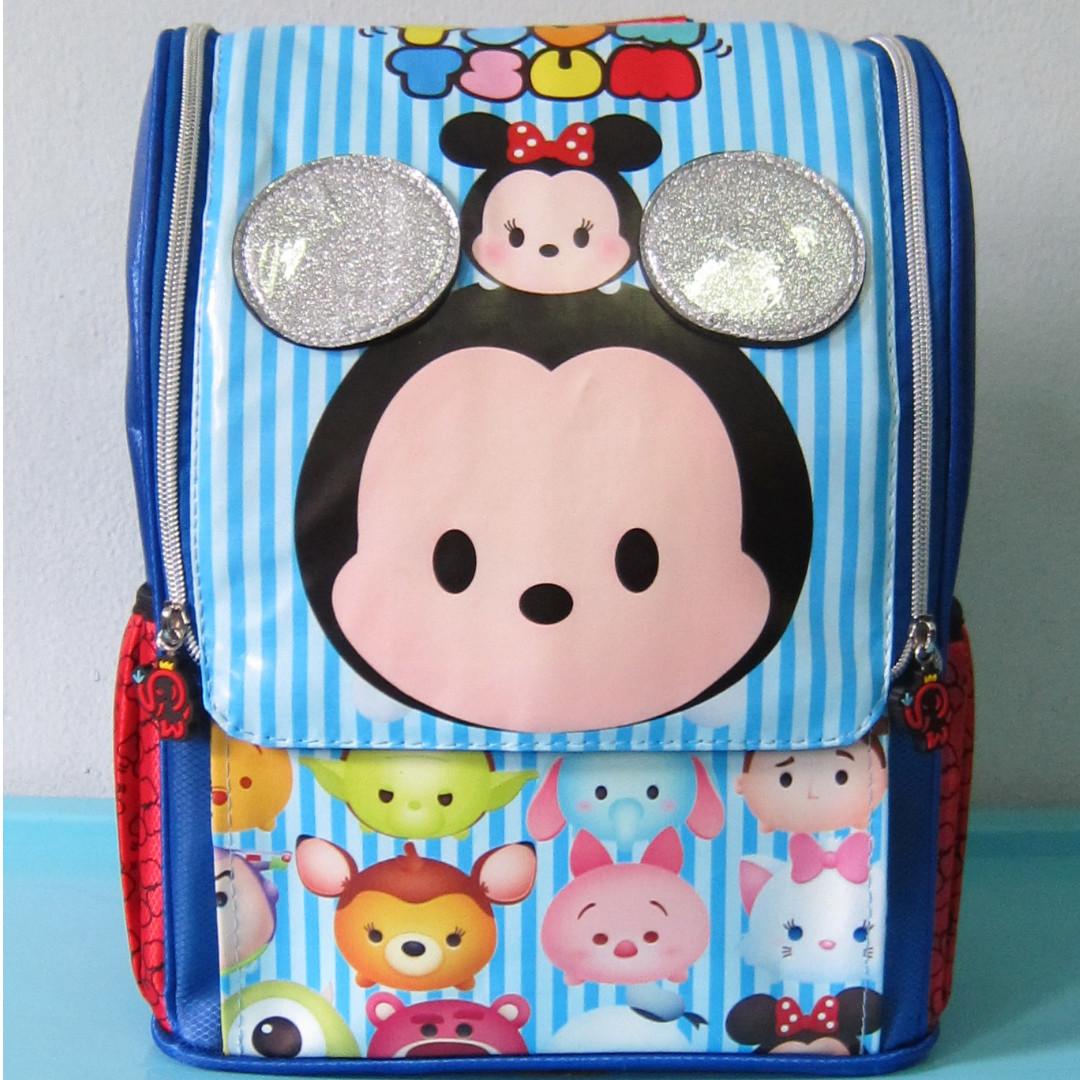 Tas Sekolah Anak Ransel Backpack TK Jepang TSUM TSUM BIRU
