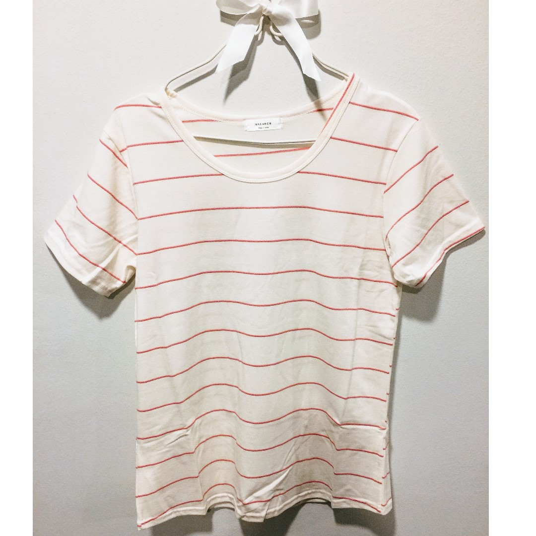 Thin Strip Shirt - Made in Korea (Pink stripes)