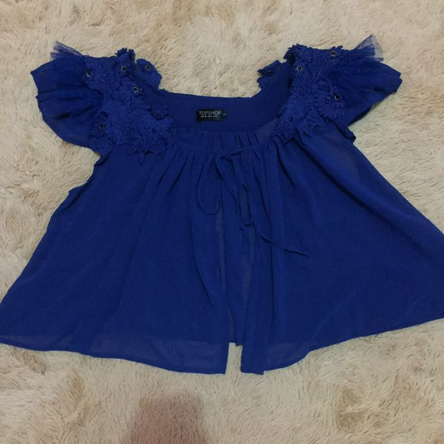 Top shop blue top