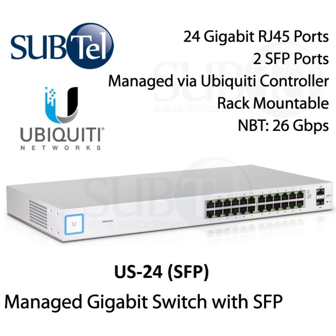Ubiquiti US-24 (SFP) UniFi Switch 24 Port SFP (Non PoE) UBNT Singapore