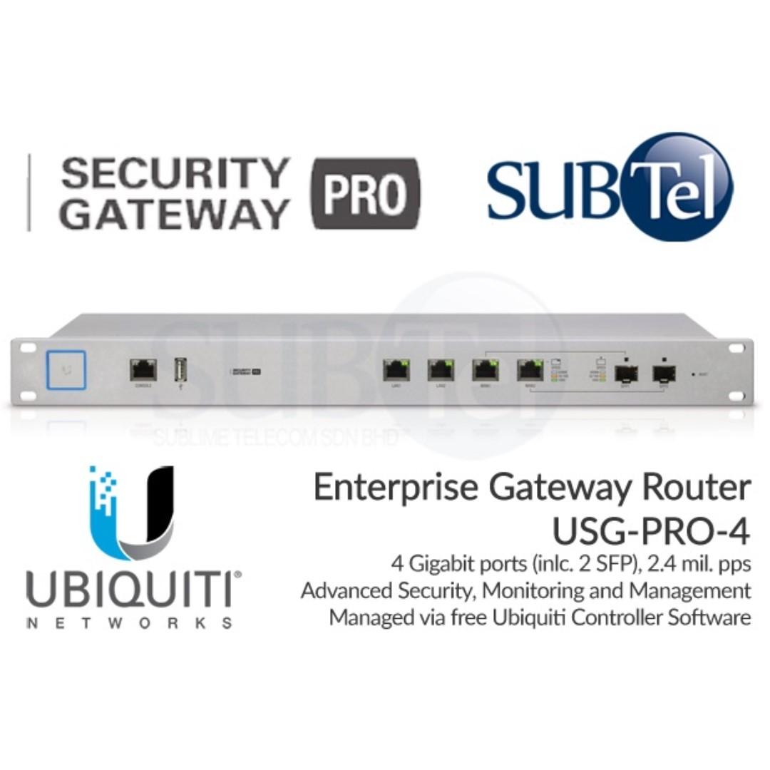 Ubiquiti USG-PRO-4 UniFi Security Gateway SFP UBNT Singapore