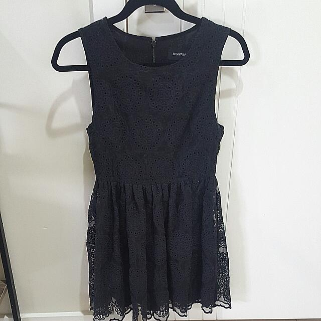Vintage Black Dress Size 8