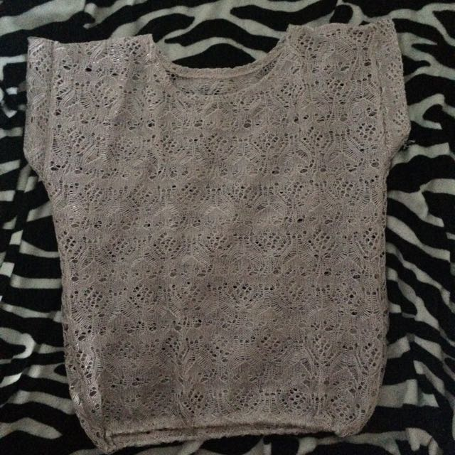 White blouse with silver effects