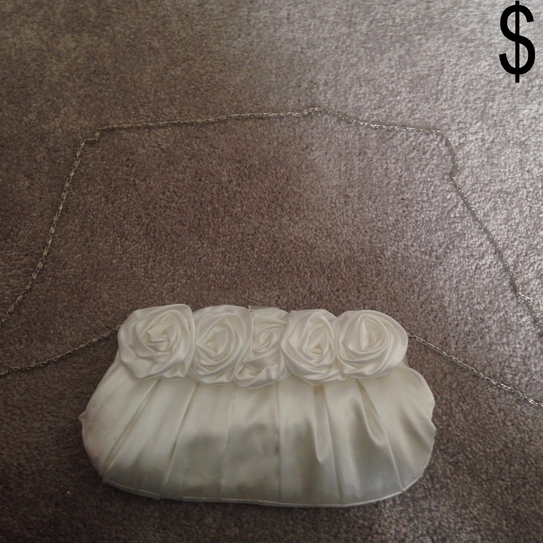 White Clutch Purse