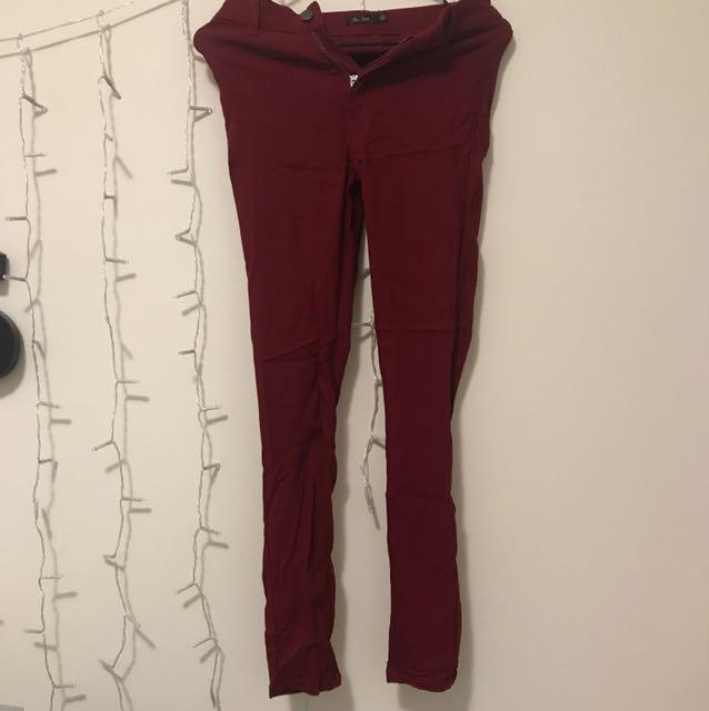 Wine highwaisted pants