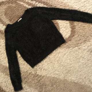 Supre Black Fur Jumper